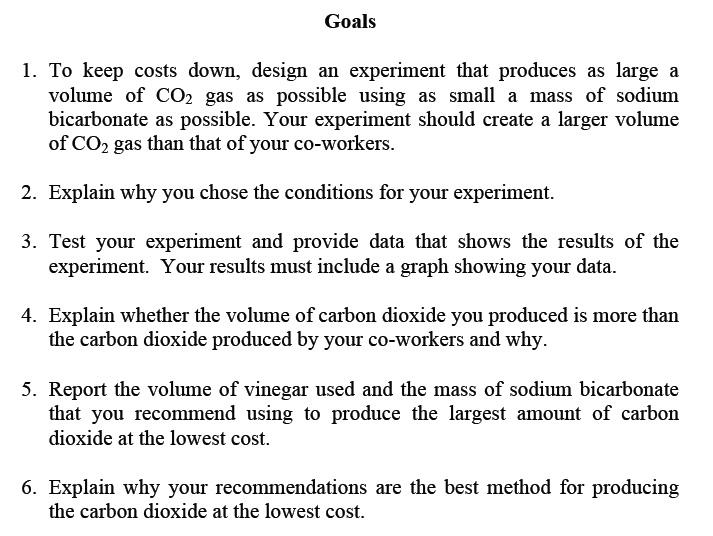 CHEM PA Goals