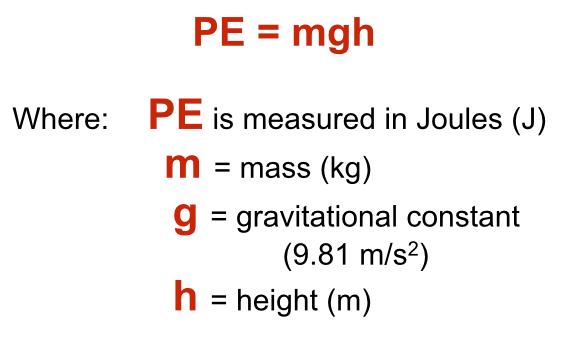 PE=mgh