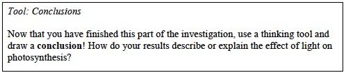 Photo Inv. 2 Lab Trial 1 Conclusion
